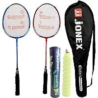 Jonex Ayush Racket Set with Faster Shuttlecock (Plastic) 10pcs Badminton Kit @Hipkoo