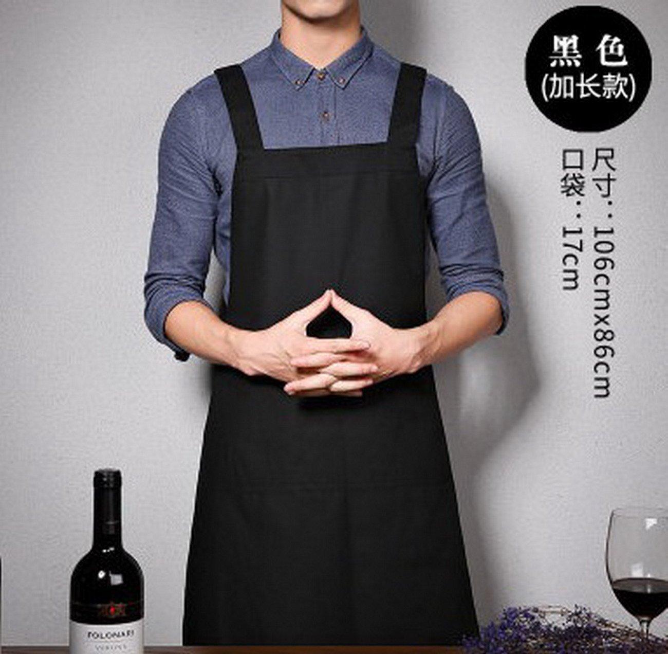 Geranjie韓国ファッションエプロンカフェミルクティーメンズ、レディース、キッチンコットンオーバーオール   B078RGJSMV