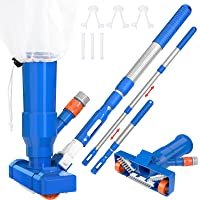 "CKE Upgraded Portable 40"" Pool Spa Pond Mini Jet Underwater Vacuum Cleaner w/Brush, Bag, Adjustable 3 Piece Expandable…"