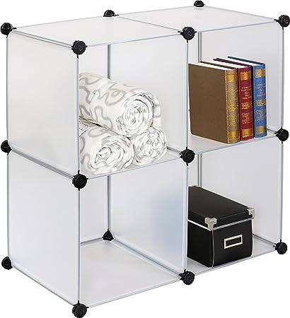 Uniware 4-Cube Organizer, Clear, 30 L x 30 W x 15 D
