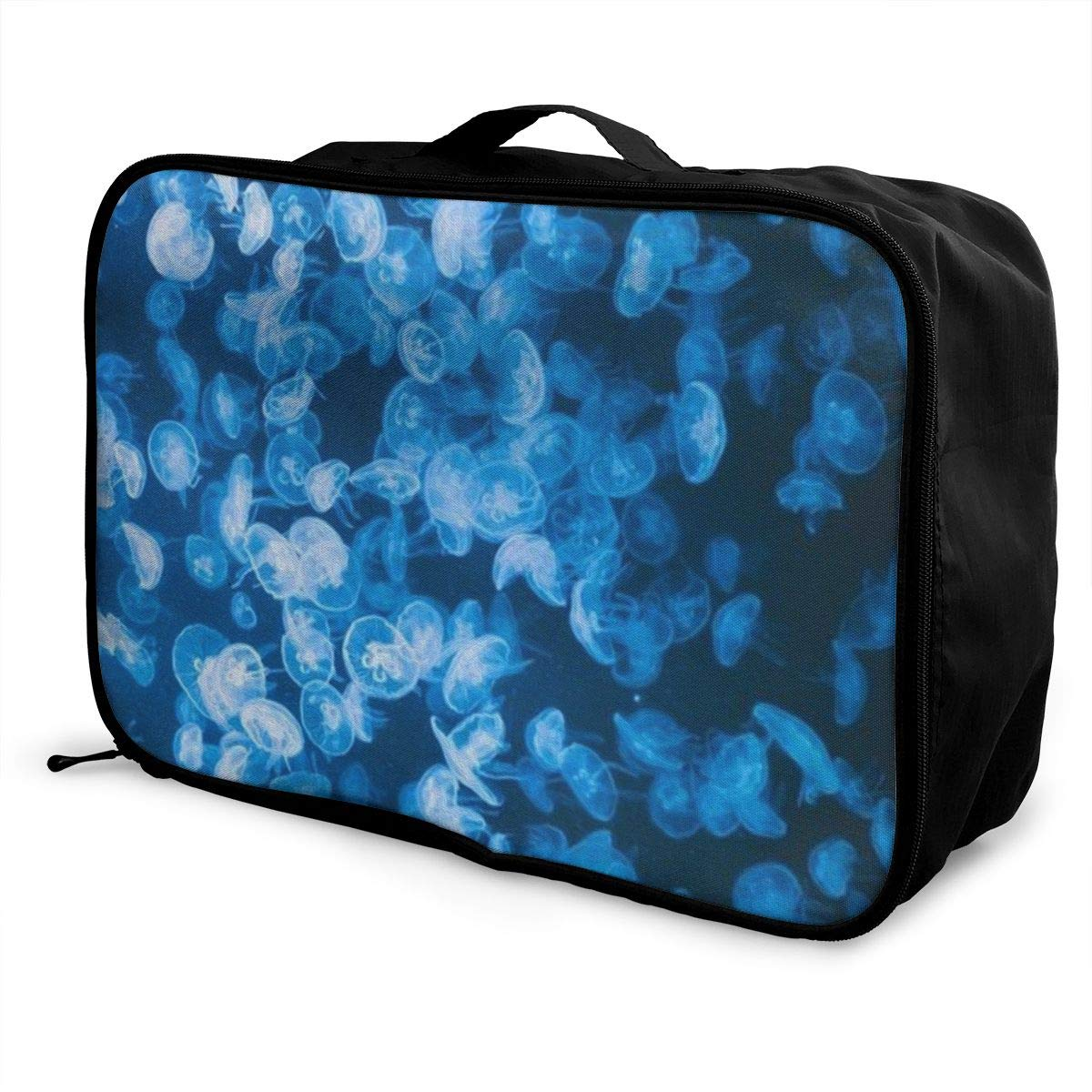 WONDERMAKE Deer and Mushroom Travel Duffel Bag Attach to Suitcase Handle Lightweight Business Bags Nylon Luggage Duffel Bag Gym Holiday Overnight Carry On Bag Tote Luggage Bag