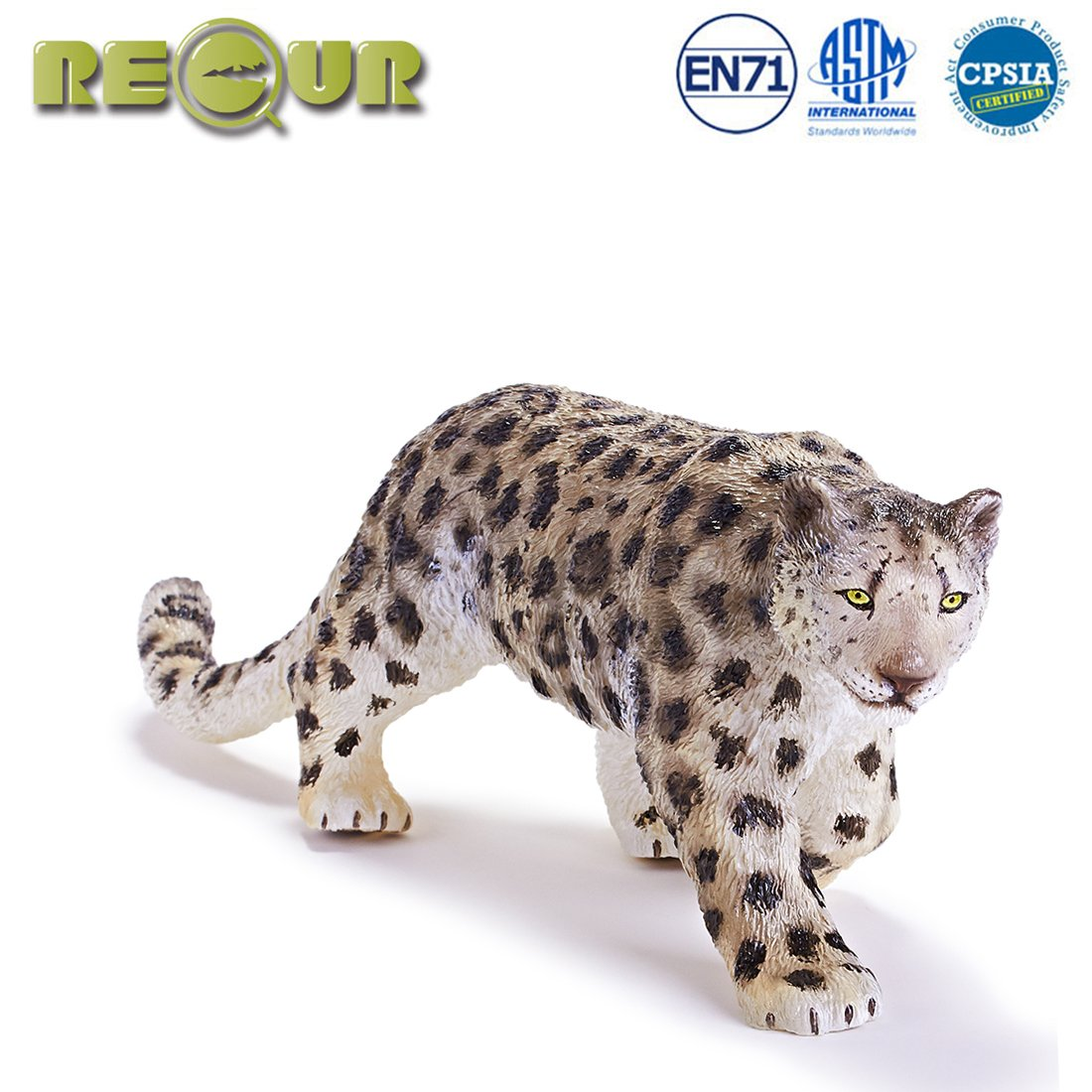 1a91cbb263b RECUR Toys Snow Leopard Action Figure Toys, Soft Hand-Painted Skin Texture  Toys for Kids- 1:8 Scale Realistic Design Female Snow Leopard Replica  10.4'', ...