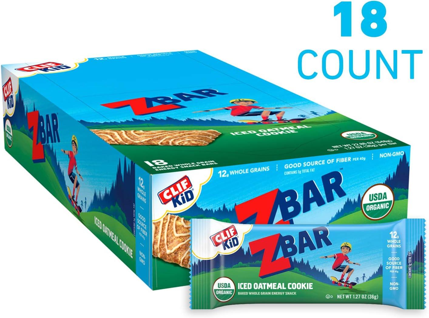 Clif Kid ZBAR - Organic Granola Bars - Iced Oatmeal Cookie - (1.27 Ounce Energy Bars, Kids Snacks, 18 Count) 71Om3myWQEL