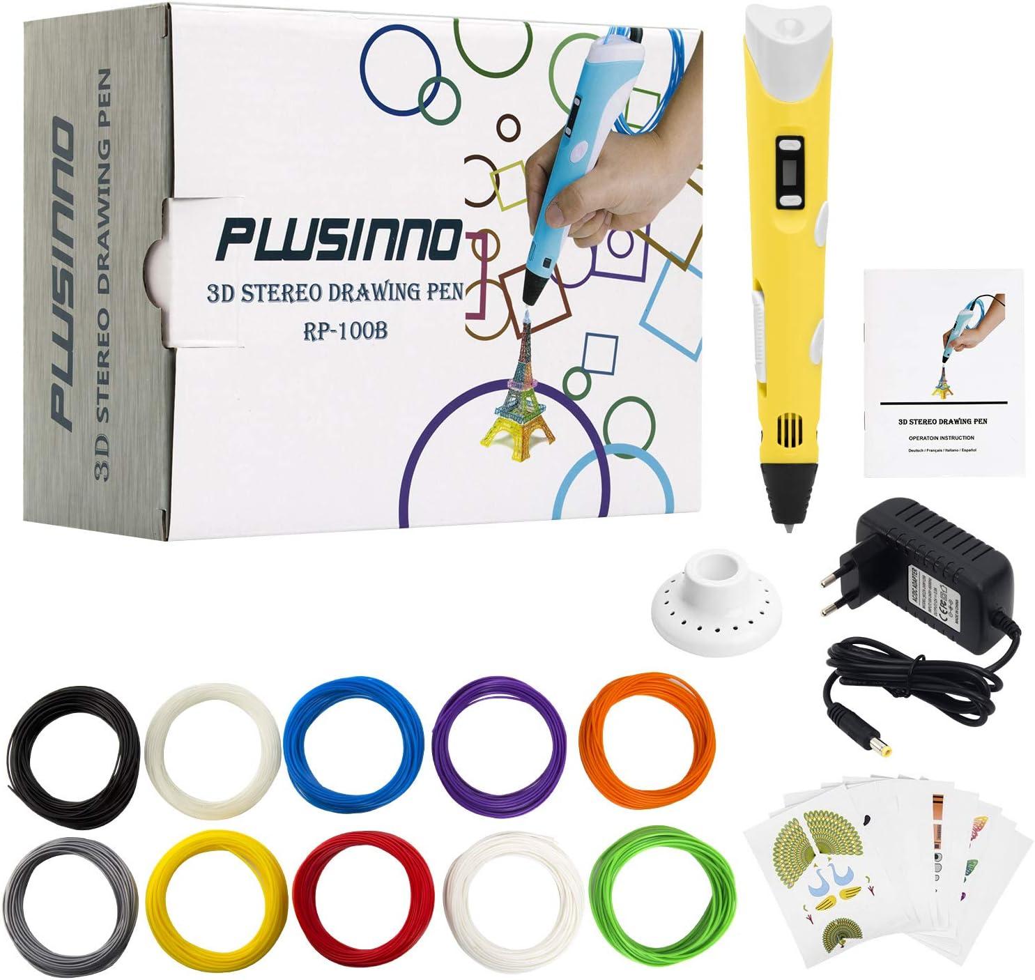 PLUSINNO DIY Scribbler Impresora 3D Pen con Pantalla LCD para 3D ...