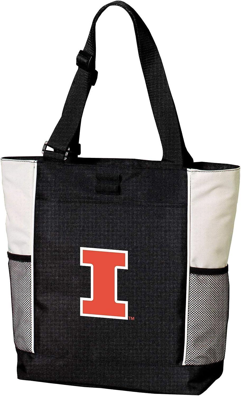 Broad Bay Illini Tote Bags University of Illinois Totes Beach Pool Or Travel