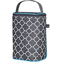 J.L. Childress 6 Bottle Cooler Bag, Clover Grey/Teal