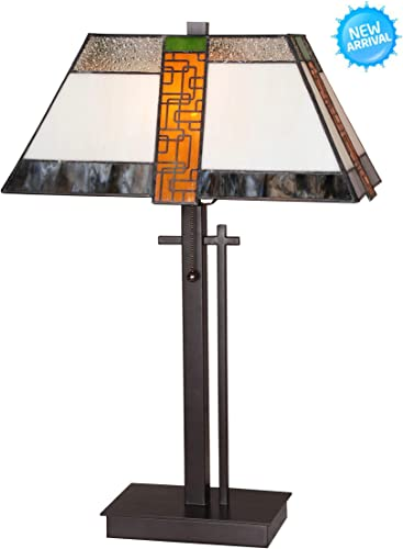 Tiffany Style Table Lamp Desk Lamp 23 Inch Height Wilsons Lighting Bergamo Series Home Office Decor Collection Model WL164273