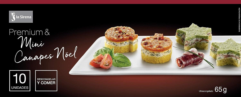 La Sirena Mini Canapés Noel Premium 65 g: Amazon.es: Alimentación ...