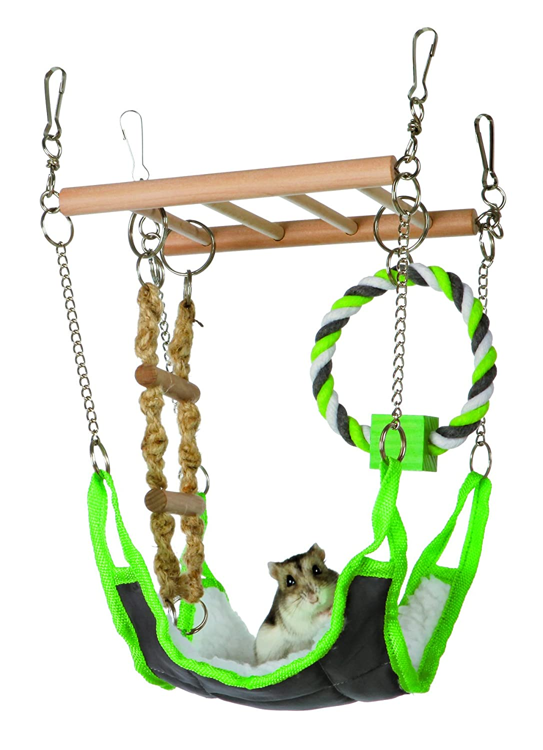 Hammock & Playbridge Gerbil or Hamster Cage Pet Toy