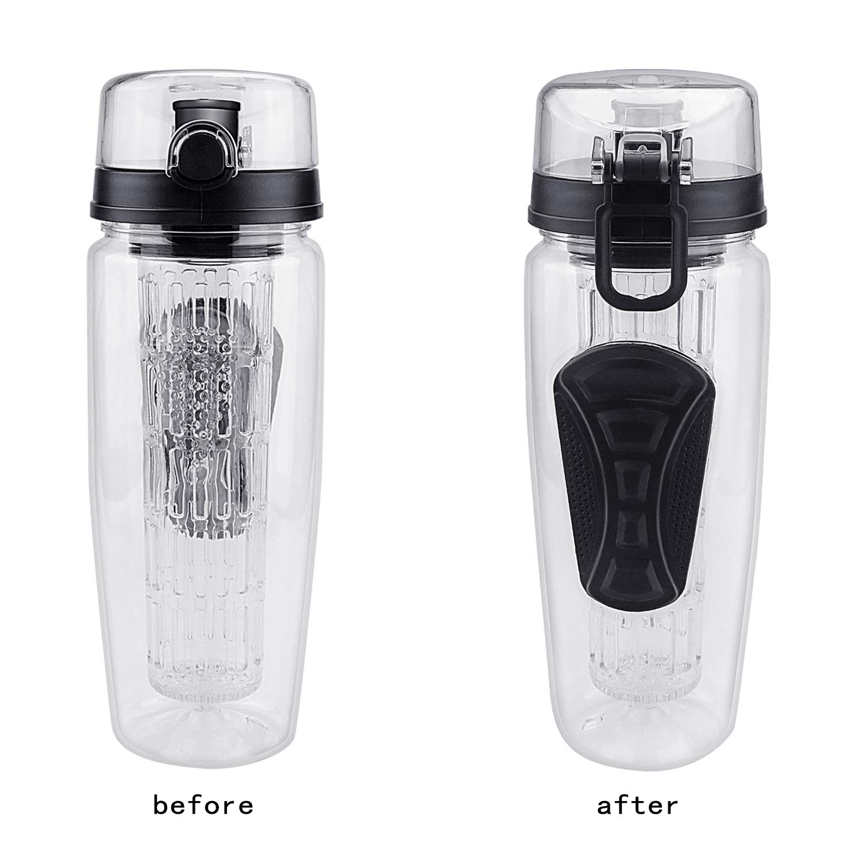 Welltop Fruit Infuser Water Bottle BPA-free Water Bottle grande capacit/à bottiglia di acqua 946 ml//907,2 gram sport bottiglia d acqua a prova di perdite Eco friendly bicicletta bottiglie