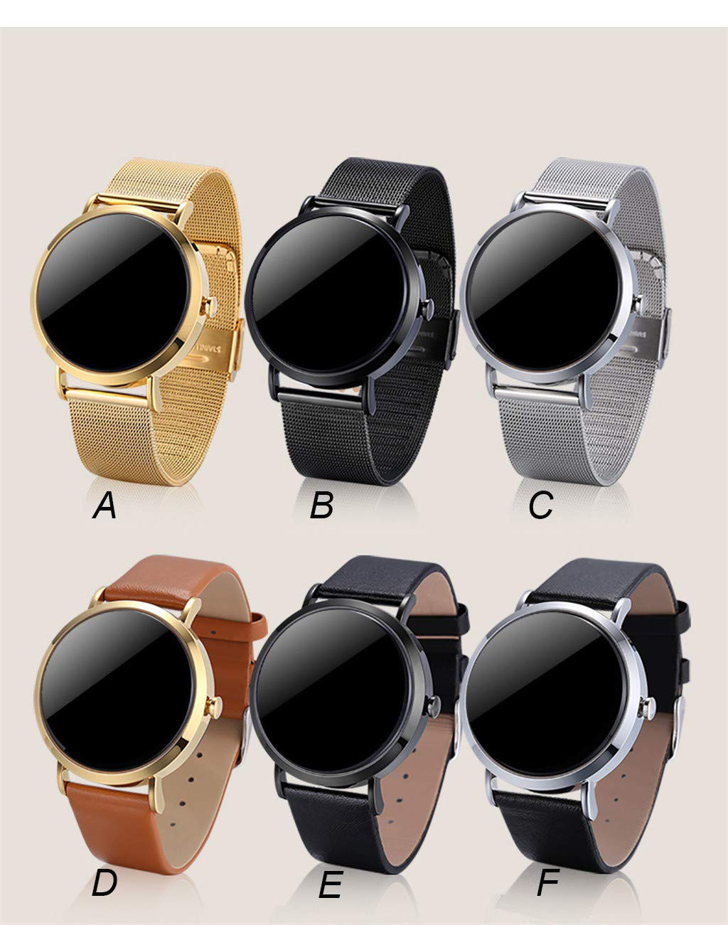 For iOS Android, Waterproof Sport Smart Watch Fitness Activity Blood Pressure Heart Rate Sleep Monitoring Smart Bracelet (A) by YNAA (Image #5)