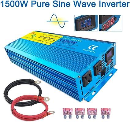 Amazon Com Lvyuan Pure Sine Wave Power Inverter 1500w