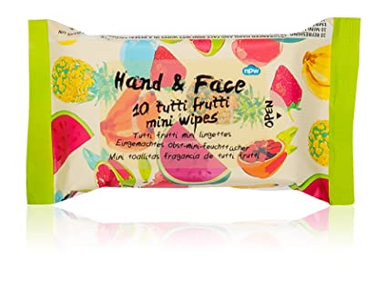 NPW – Toallitas húmedas de bolsillo Viaje Pack de frutas, aroma de 10 toallitas