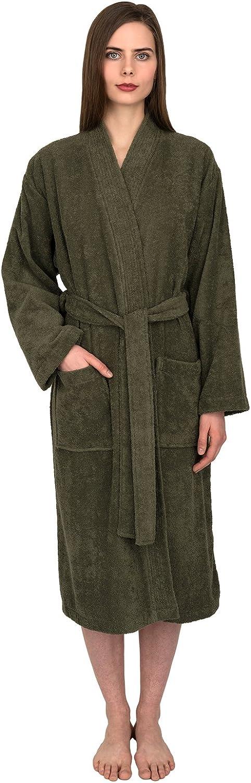 TowelSelections Turkish Cotton Robe Kimono Collar Terry Bathrobe Made in Turkey