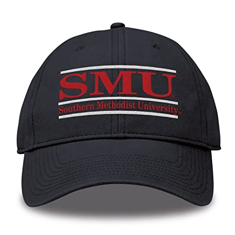 huge selection of 7c7de 32a14 The Game NCAA SMU Mustangs Bar Design Twill Hat, Navy, Adjustable