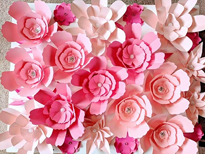 Amazon Wall Paper Flowers For Backdrops Includes 21 Paper