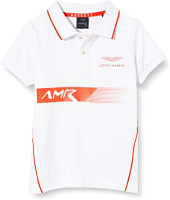 Hackett London Amr PNL Print SS B Camisa Polo para Niños