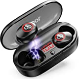 Wireless Earbuds, 2020 Upgraded 33H Playtime, Waterproof Bluetooth Headphones 5.0 with Charging Case, VEATOOL Mini in…
