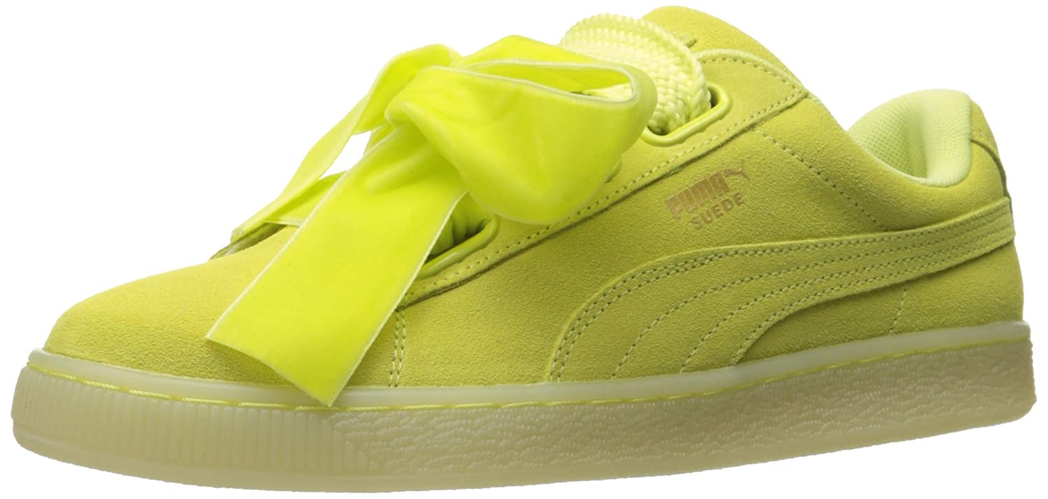 PUMA Women's Suede Heart Reset WN's Fashion Sneaker B01J5NUHZ0 9 M US|Soft Fluo Yellow-soft Fluo Yellow