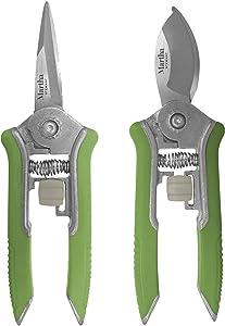Martha Stewart MTS-SBP2 Flat Nose Bypass + Needle Pruner, 2-Pack