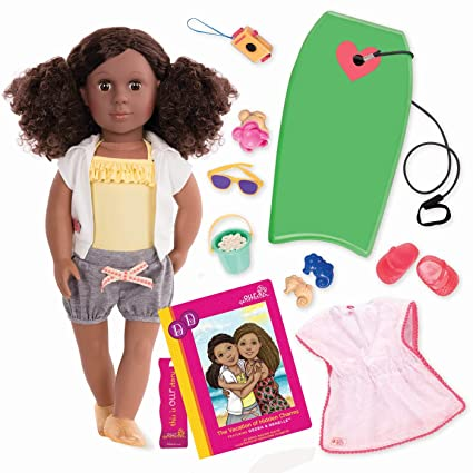 db3958b8f38f Image Unavailable. Image not available for. Color: Our Generation 18  Poseable Doll ...