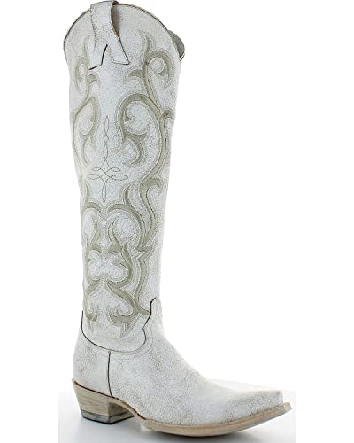 d78b687f4cf Amazon.com | Old Gringo Women's White Dolly Mayra Tall Boot Snip Toe ...