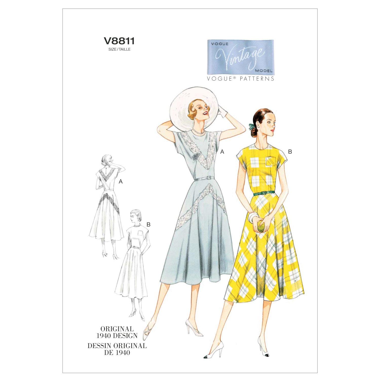 Vogue Patterns V8811 - Patrones de costura para vestidos con ...