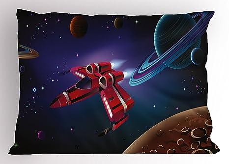 Juchenjixie ragazzo stanza del cuscino sham nave spaziale con