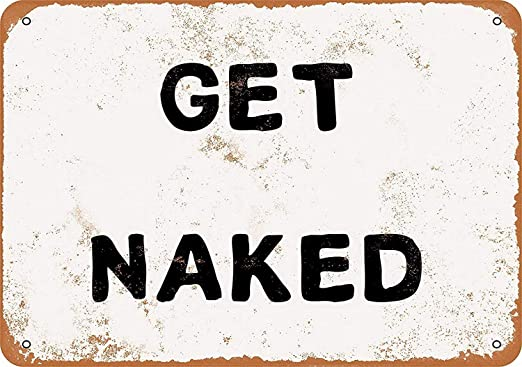 Get Naked Póster De Pared Metal Retro Placa Cartel Cartel De ...
