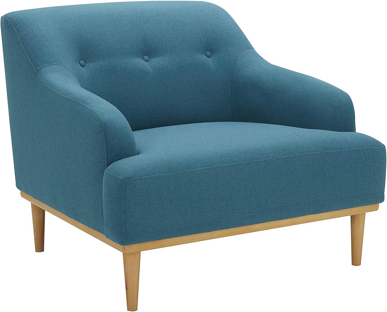 "Amazon Brand – Rivet Alvin Contemporary Livingroom Chair, 39""W, Aqua Teal Blue"