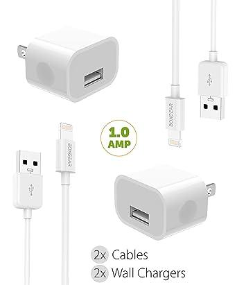 iPhone 8/10/X/7/6/5 Kit de Cargador Cable Lightning de Apple ...