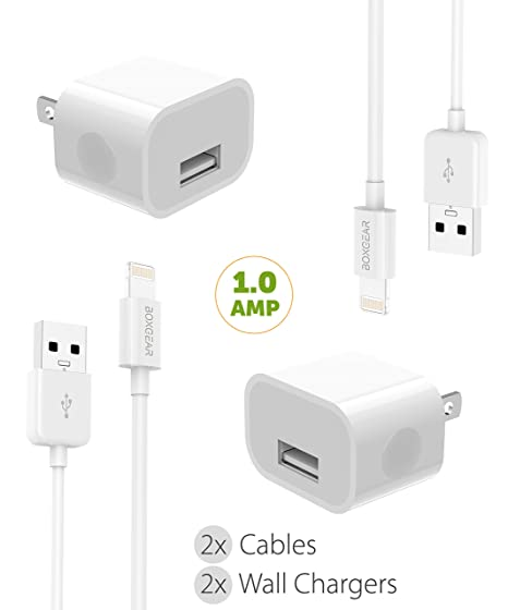 Amazon.com: iPhone 8/10/X/7/6/5 Cargador Kit de cable ...