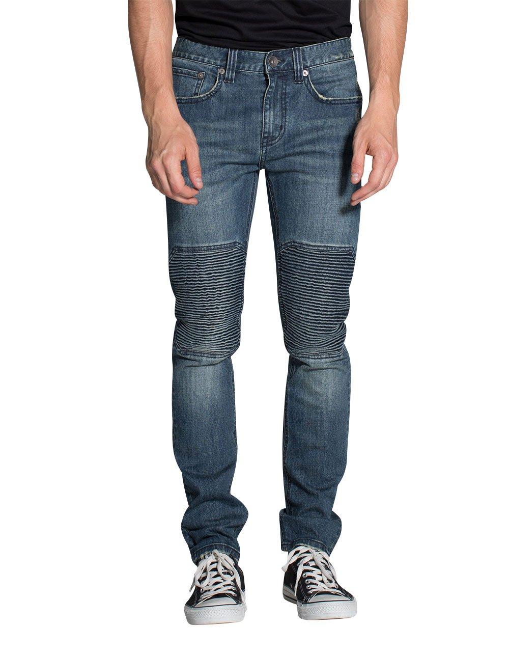 Rsq London Moto Skinny Jeans, Medium Wash, 32X32