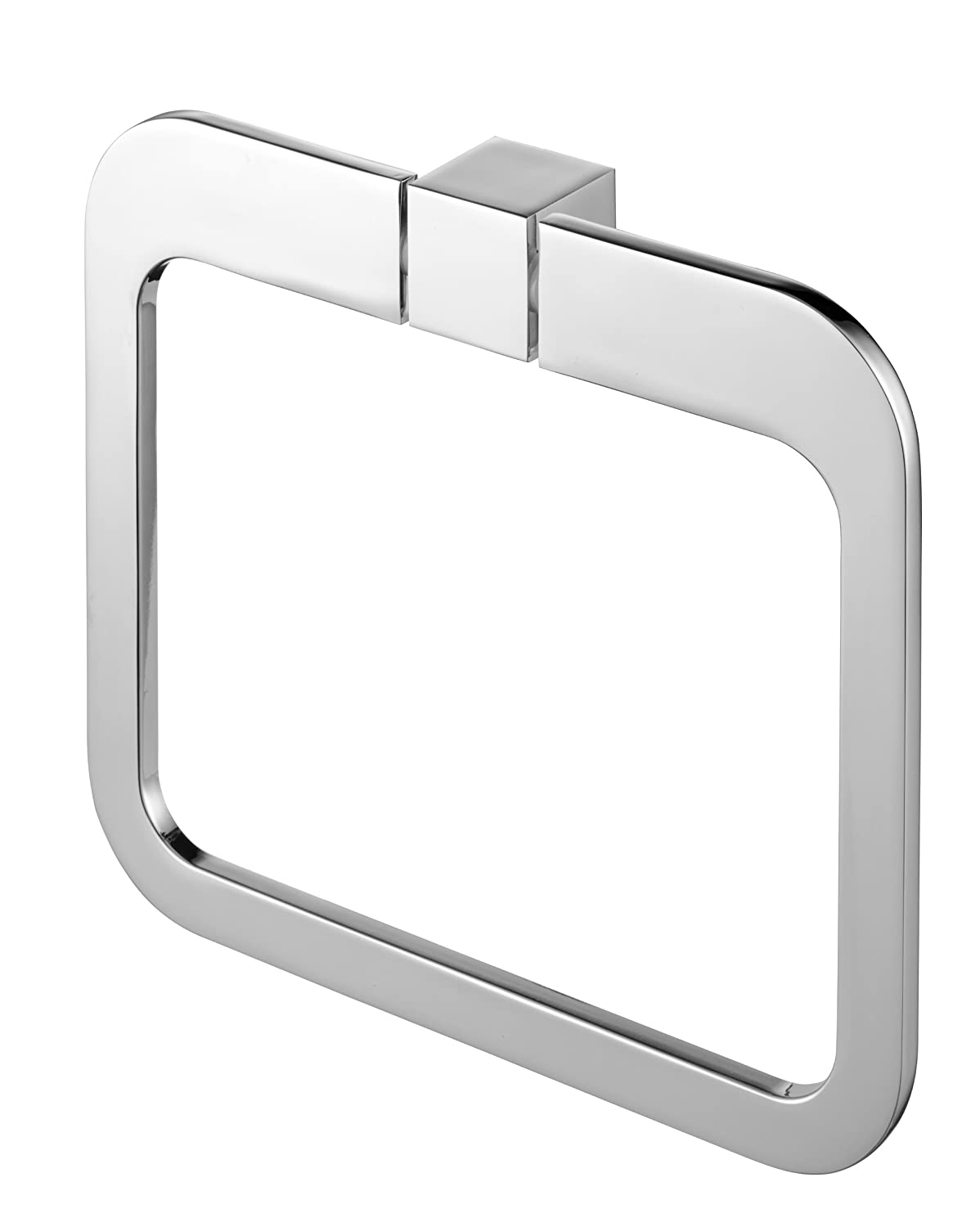 Bisk 02996 Futura Finished Towel Ring, 20 x 3 17.5 cm, Silver 2996_chrom