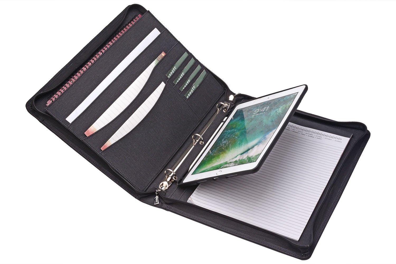 素晴らしい外見 ジッパーバインダー 2018 ポートフォリオ iPadホルダー付き ノートパッドホルダー オーガナイザー iPad パッドフォリオ Ipad 3リングバインダー iPad 11-inch Pro用 11.3x11.3x14.0 In. 11-inch Ipad Pro 2018 B07KWRPH7Y, 土井志ば漬本舗:53a41a67 --- a0267596.xsph.ru
