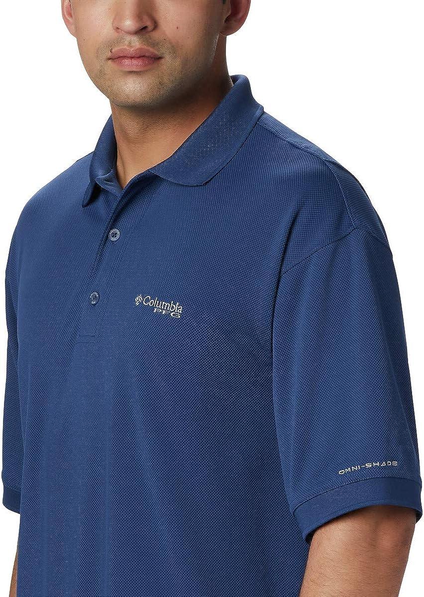Breathable Columbia Mens PFG Perfect Cast Polo Shirt UV Protection