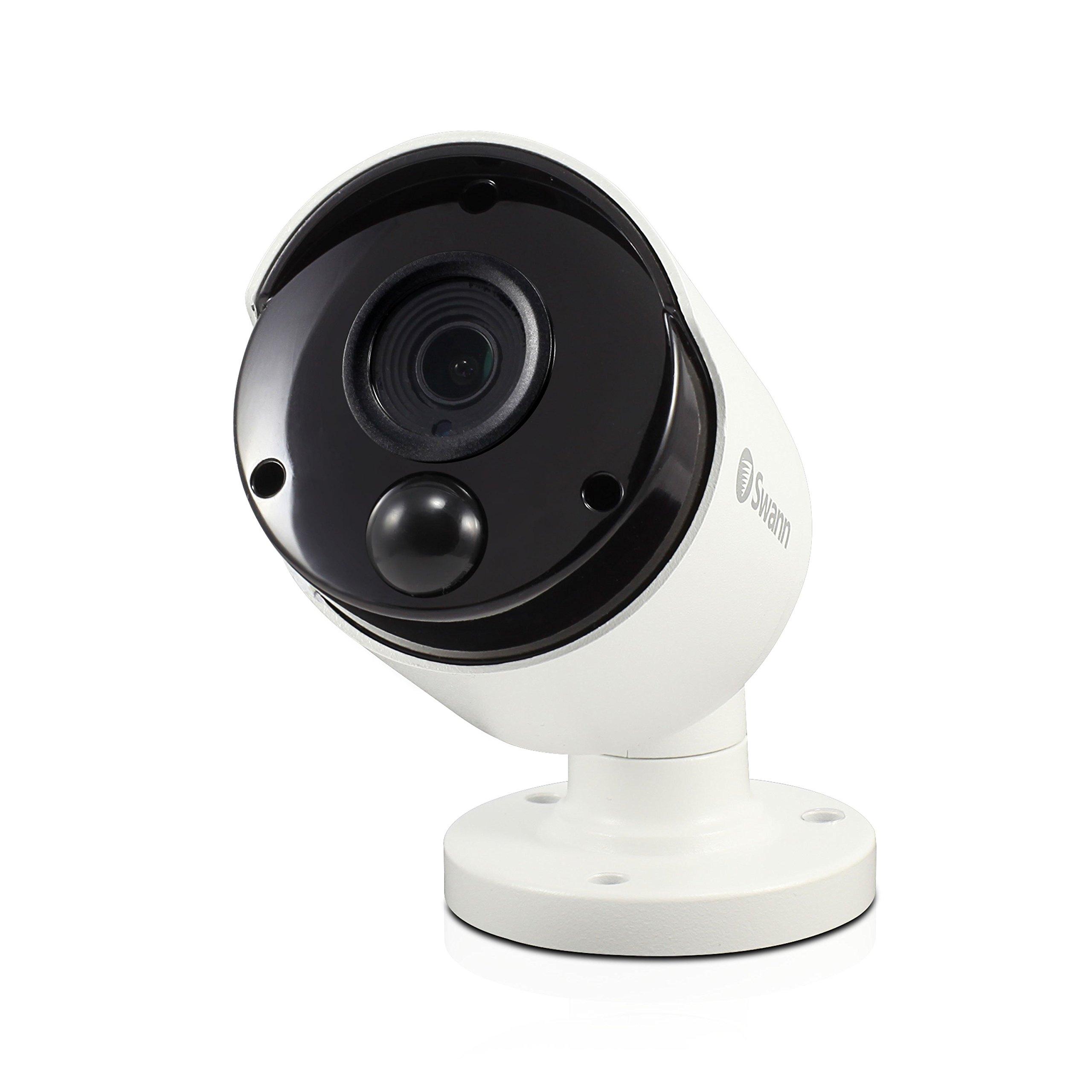 Swann SWPRO-3MPMSB-US 3MP Super HD Thermal Sensing PIR CCTV Security Bullet Camera with IR Night Vision - PRO-3MPMSB by Swann