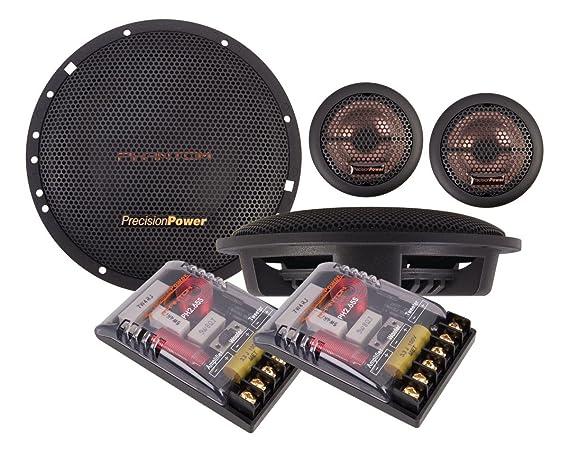 Amazon.com: Precision Power 6.5-inch 2 Vías Phantom Series ...