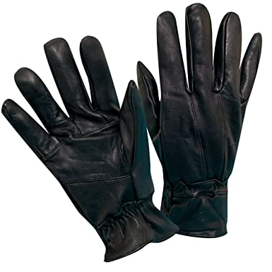 7fe65a5dc6d7f DORFMAN PACIFIC MENS LAMBSKIN BLACK LEATHER THINSULATE ISOLANT GLOVES (G17)  (Small Medium)