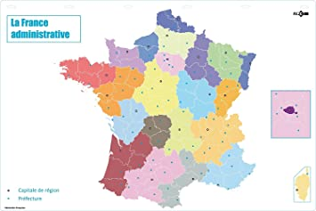 JPC Administrative Map France Mute 120 x 80 Amazoncouk Office
