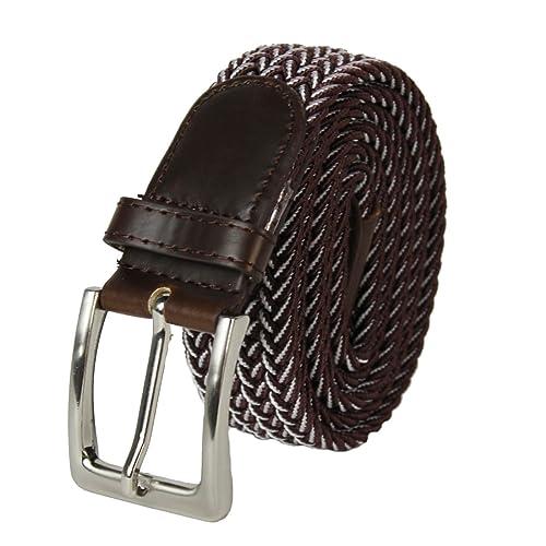 Glamexx24 – Cinturón de tela elástica trenzada unisex.