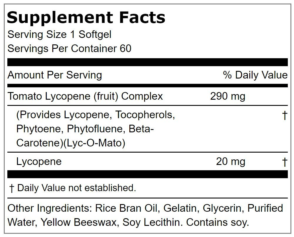 Lindberg Lycopene 20 mg -- from Lyc-O-Mato® Tomato Complex -- Provides Antioxidant Support*