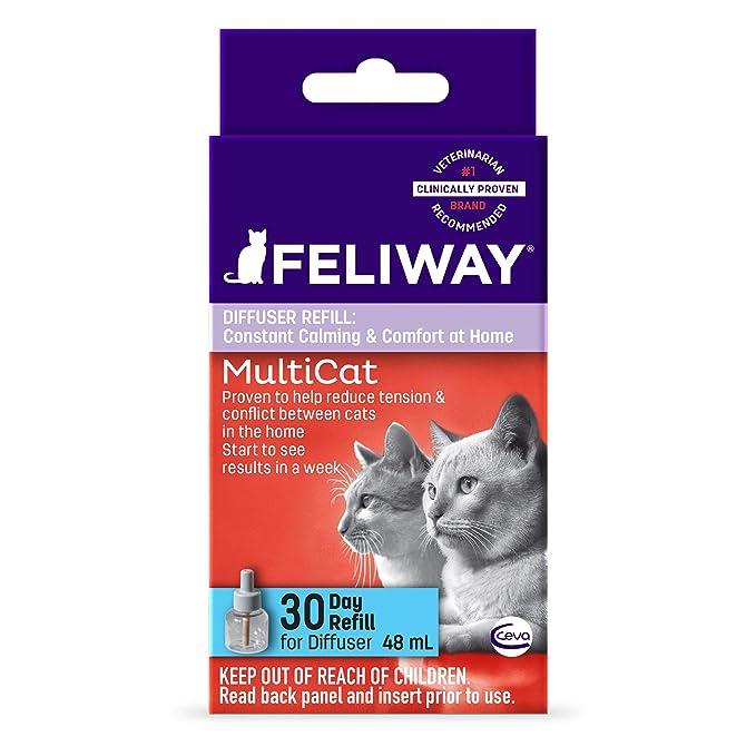 Feliway Calming Diffuser Refill for MultiCat 48 ML: Amazon.es: Productos para mascotas