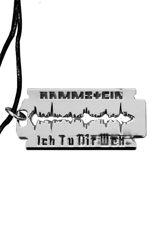 Rammstein Rasierklinge Ich Tu Dir WEH Anhä nger Grau one Size RS010