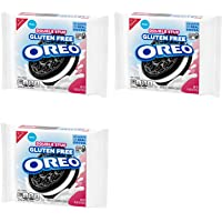Oreo Double Stuf Gluten Free Chocolate Sandwich Cookies - Bulk Grocery Pack of 3 Resealable Bags - 1403 oz Per Bag - 42…