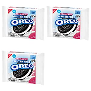 Oreo Double Stuf Gluten Free Chocolate Sandwich Cookies - Bulk Grocery Pack of 3 Resealable Bags - 1403 oz Per Bag - 42.09 oz Total - Sandwich Cookies with White Cream - Great Healthy Snacks for Kids