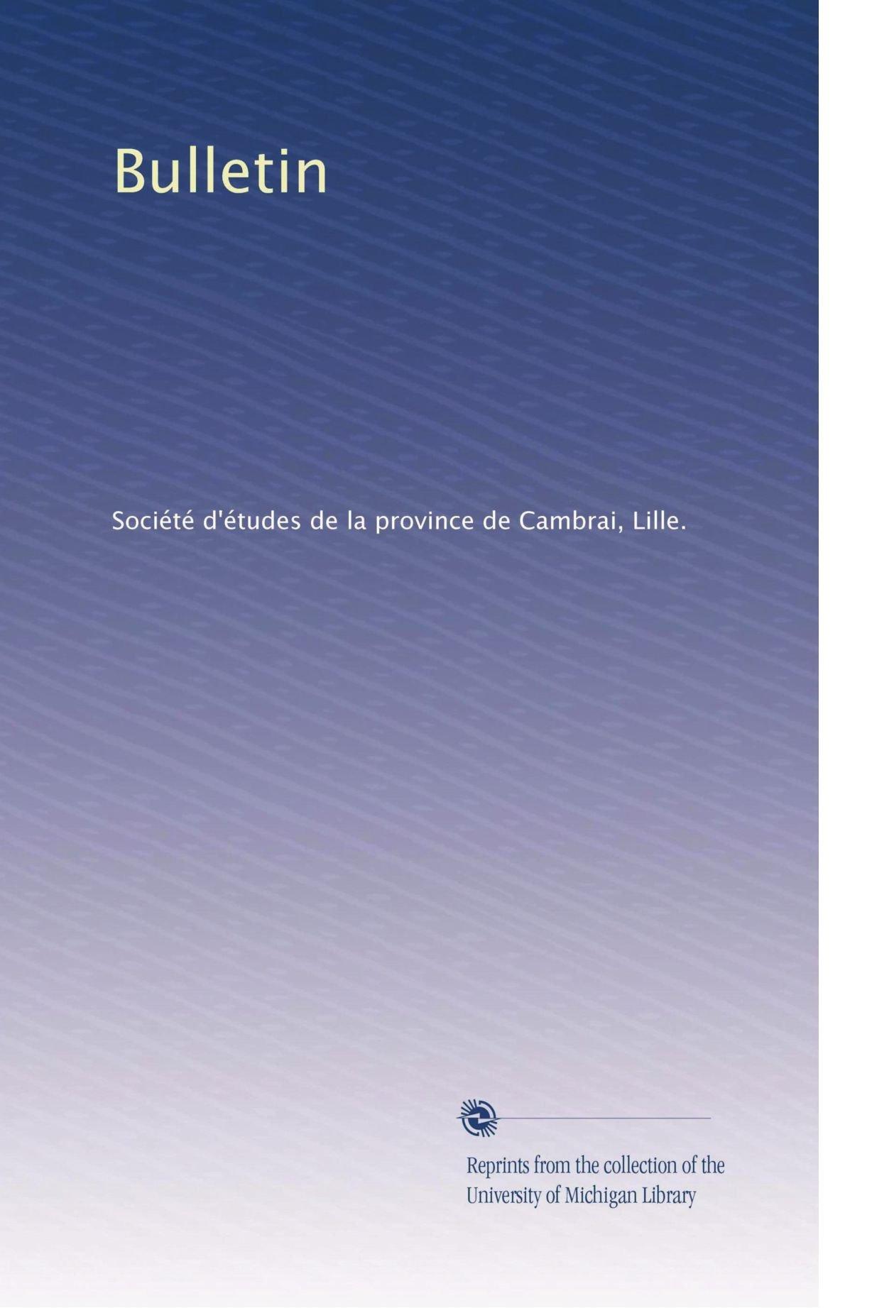 Read Online Bulletin (Volume 20) (French Edition) PDF