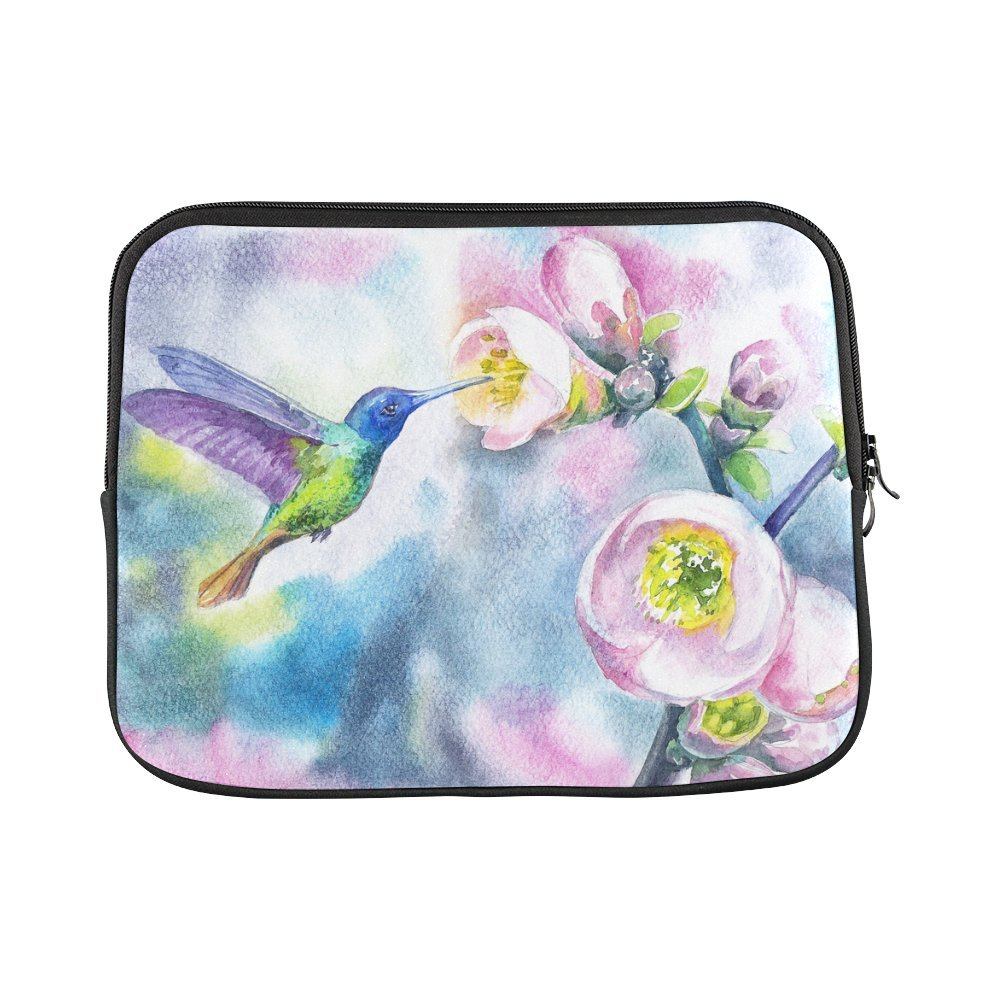 a9bf50e96e0 InterestPrint Watercolor Hummingbirds with Spring Flowers Laptop Sleeve  Case Waterproof Neoprene Notebook Bag 13 13.3 Inch for MacBook Pro Air HP  Dell ...