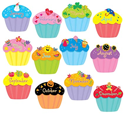 Creative Teaching Press Cupcakes 6 Inch Designer Cut Outs 1795