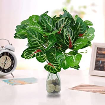 Amazon De Huhuswwbin Kunstliche Pflanzen 32 Cm Kunstliche Blatter